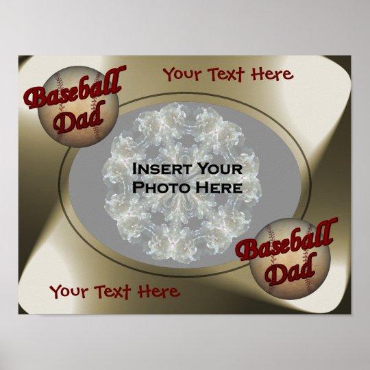 Baseball Dad Design Photo Poster