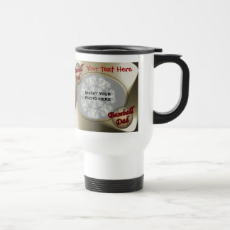 Baseball Dad Design Photo Travel Mug