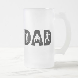 Baseball Dad Father's Day Frosted Glass Mug