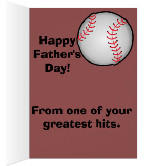 Baseball Dad Father's Day Greeting Card