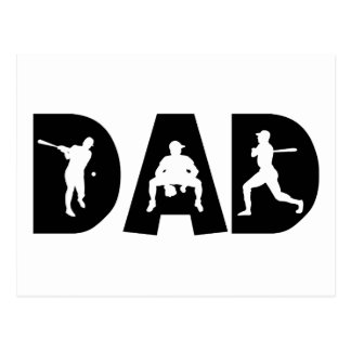 Baseball Dad Father's Day Post Cards