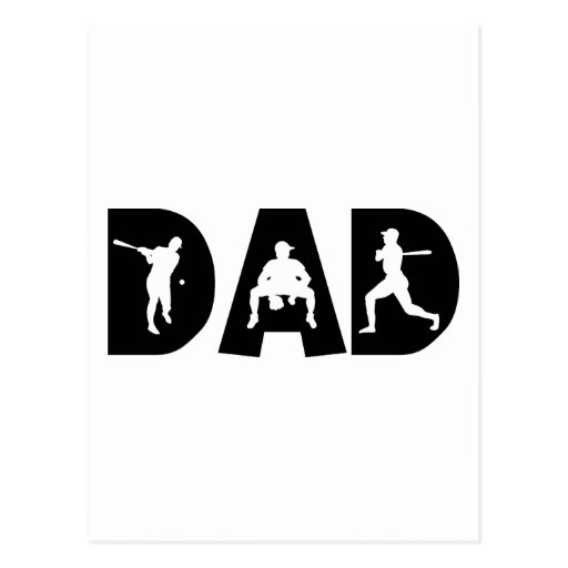 Baseball Dad Father's Day Post Card