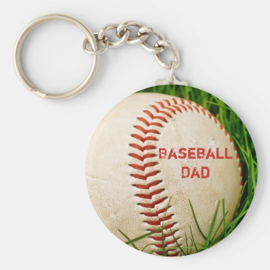 Baseball Dad Keychain
