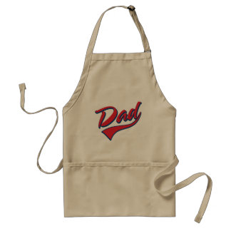 Baseball Dad Red Standard Apron