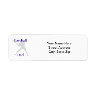 Baseball Dad Return Address Label