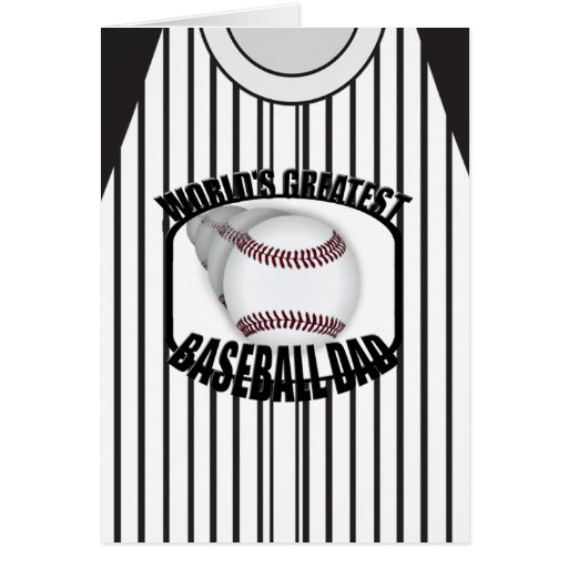 Baseball Dad Worlds Greatest Custom Card