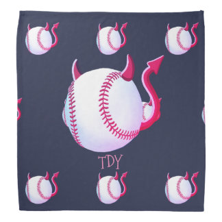 """Baseball Demons"" (midnight blue) Bandana"