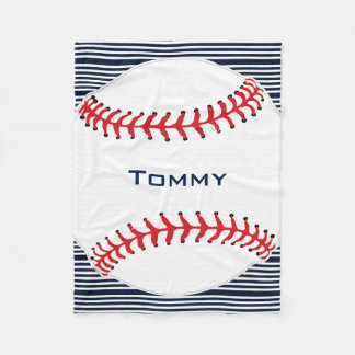 Baseball Design Fleece Blanket