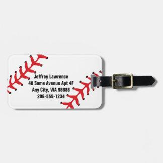 Baseball Design Luggage Tags