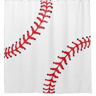 Baseball Design Shower Curtain
