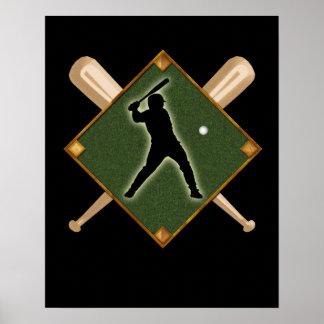 Baseball Diamond Batter 1 Poster