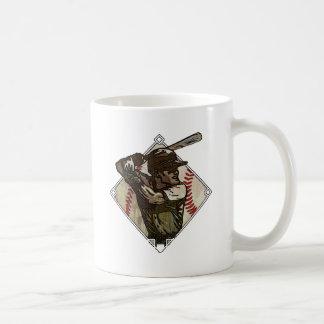 Baseball Diamond Batter Coffee Mugs