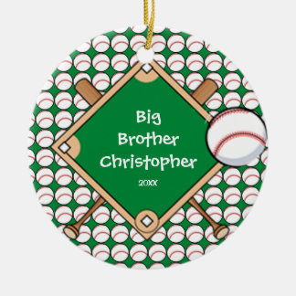 BaseBall Diamond Big Brother Christmas Ornament