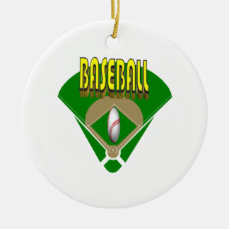 Baseball Diamond Christmas Ornament