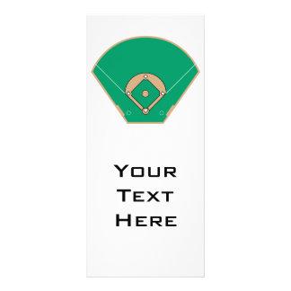 baseball diamond field full color rack card