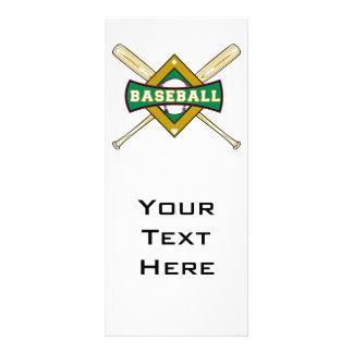 baseball diamond logo customised rack card