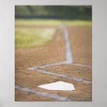 Baseball diamond poster