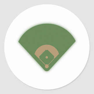 Baseball Diamond: Round Sticker