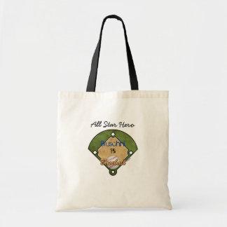Baseball Diamond Sport Canvas Bags