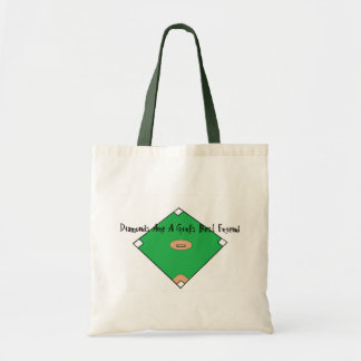 Baseball Diamonds Are A Girls Best Friends Tote Bag