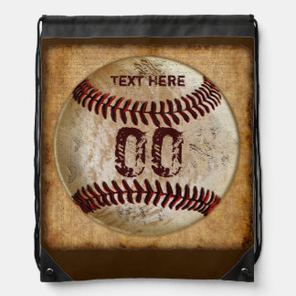 Baseball Drawstring Backpack NAME & JERSEY NUMBER