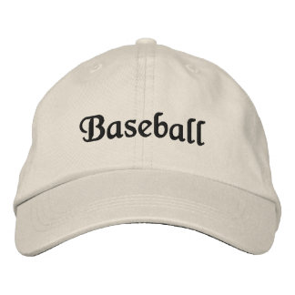 Baseball Embroidered Cap Stone Embroidered Hat