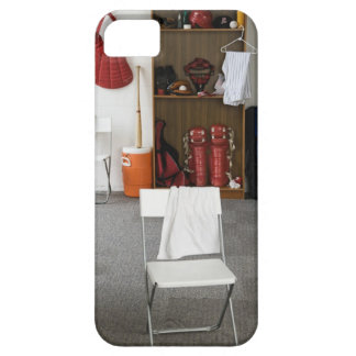 Baseball equipment in locker room iPhone 5 covers