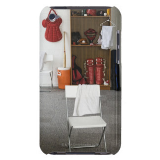 Baseball equipment in locker room iPod touch covers