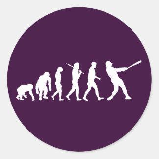 Baseball evolution of Baseball gifts Round Sticker
