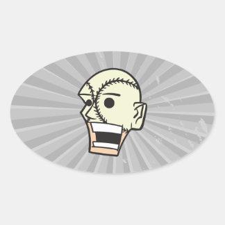 baseball face fan fanatic oval sticker