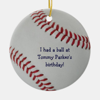 Baseball Fan-tastic_autograph-style party favor Christmas Ornament
