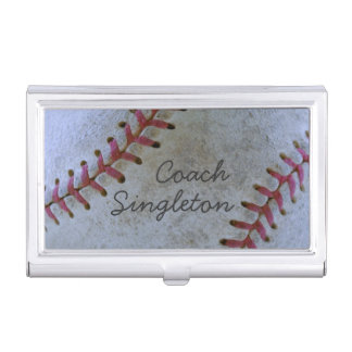 Baseball Fan-tastic_Battered ball_Authentic Scuff Business Card Holder