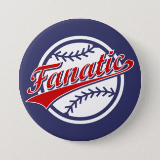 Baseball Fanatic 7.5 Cm Round Badge