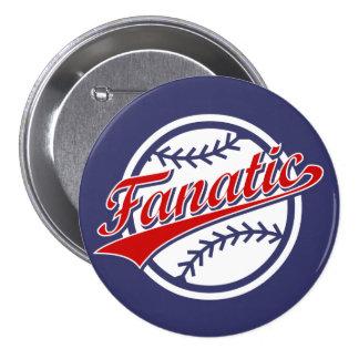 Baseball Fanatic 7.5 Cm Round Badge