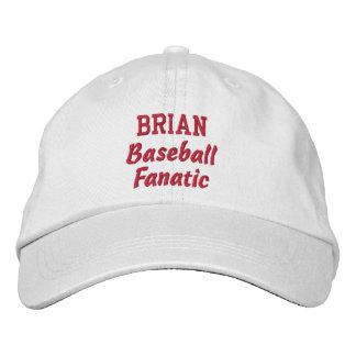 Baseball Fanatic Custom Name Embroidered Cap