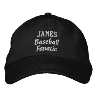 Baseball Fanatic Custom Name Sports Gift V01 Embroidered Baseball Caps