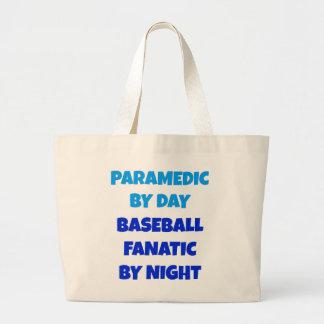 Baseball Fanatic Paramedic Large Tote Bag