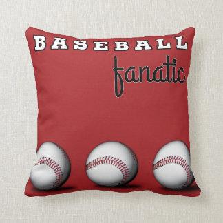 Baseball Fanatic Throw Pillows