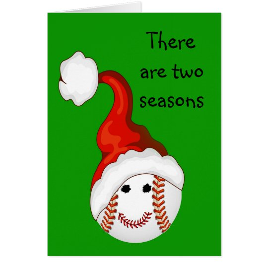 Baseball fans Christmas Card