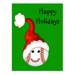 Baseball fans Christmas Postcard