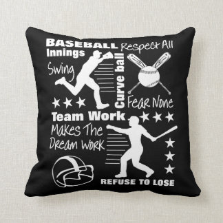 Baseball Fans Quotes And Graphics Sporty Design Cushion