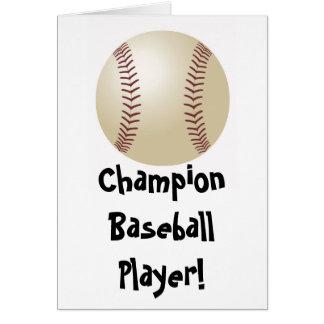 Baseball Fathers Day Card