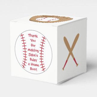 Baseball Favor Box- Home Run Birthday Party Favour Box