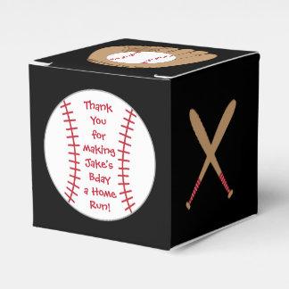 Baseball Favor Box- Home Run Birthday Wedding Favour Boxes