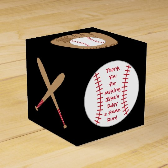 Baseball Favour Box- Home Run Birthday Favour Box