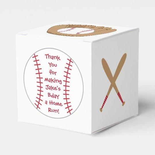 Baseball Favour Box- Home Run Birthday Favour Box