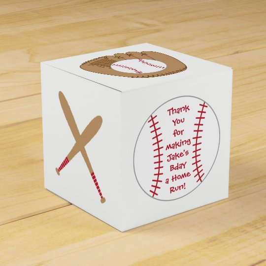 Baseball Favour Box- Home Run Birthday Party Favour Box
