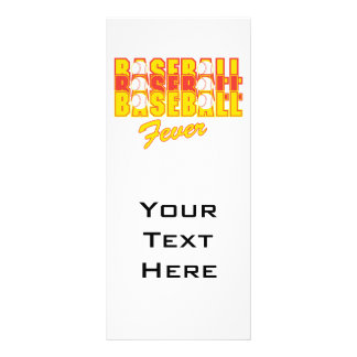 baseball fever red and yellow 10 cm x 23 cm rack card