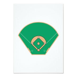 Baseball field 13 cm x 18 cm invitation card