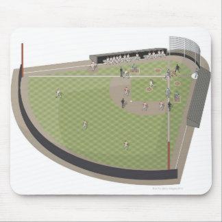 Baseball field mouse mat